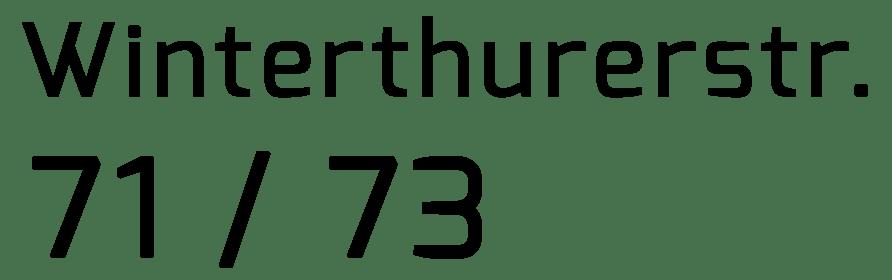 Winterthurerstr. 71 / 73